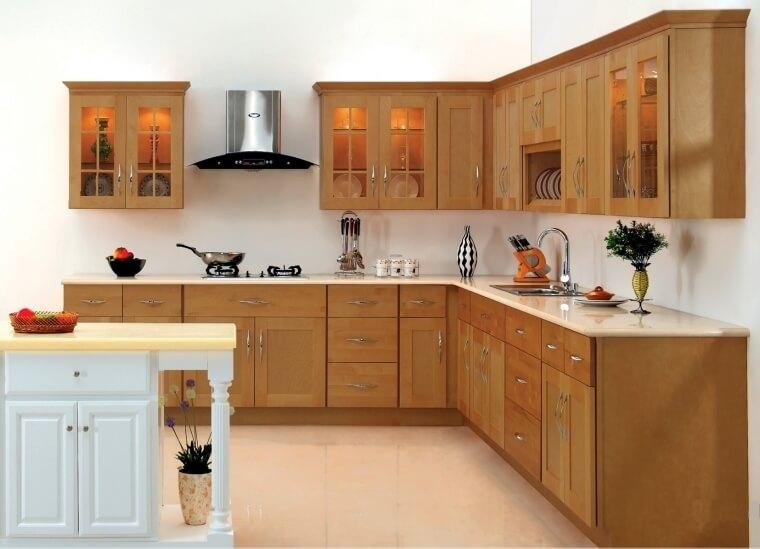 Good Mdern Kitchen Interior Design Modular Kitchen Works Wood Finished_54c