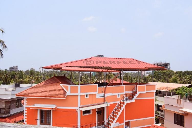 Roofing Works Near Sreevilasamlane Kowdiar Trivandrum